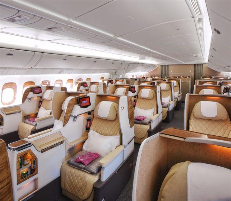 Emirates Boeing-plan får ännu rymligare säten i Business Class