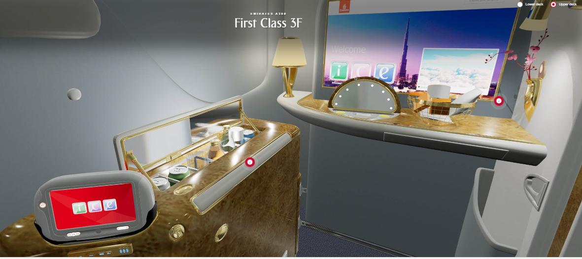 Emiratesplanen i 3D