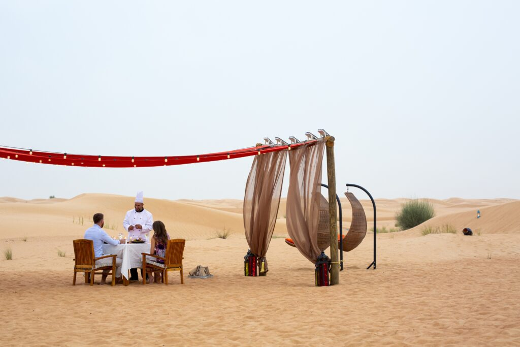 Arabisk afton i öknen